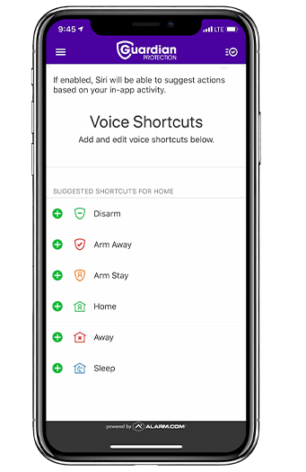 how to create Siri shortcuts using Guardian App
