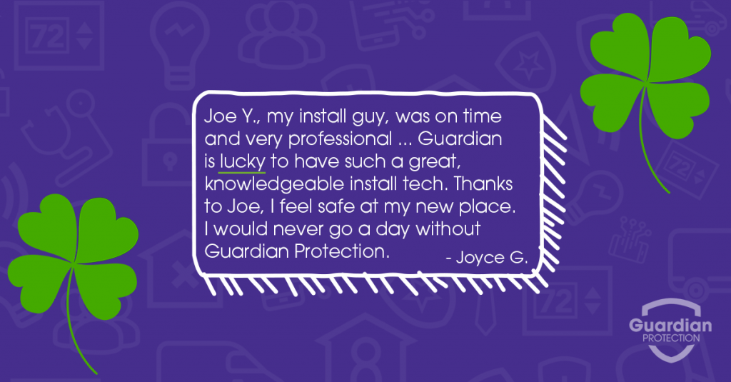 lucky to have Guardian customer testimonial