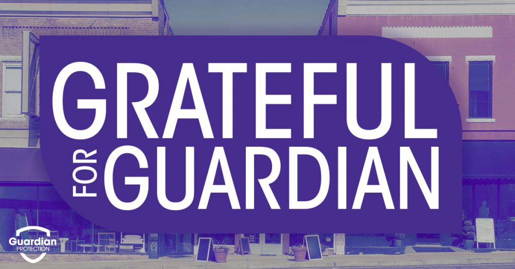 Small businesses are grateful for Guardian Protection security
