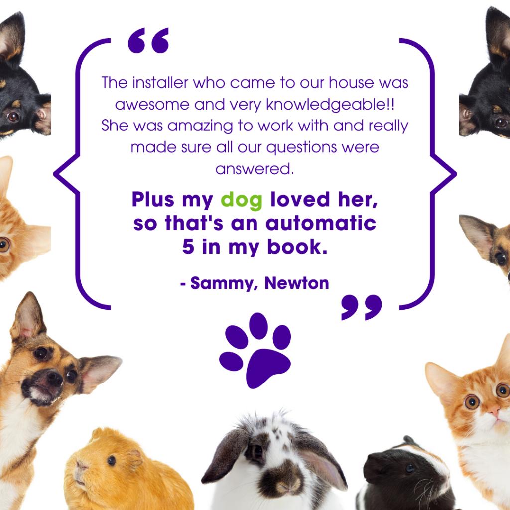 Guardian customer testimonial pet security 1