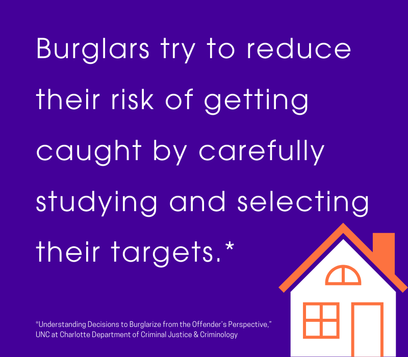 burglars study their targets