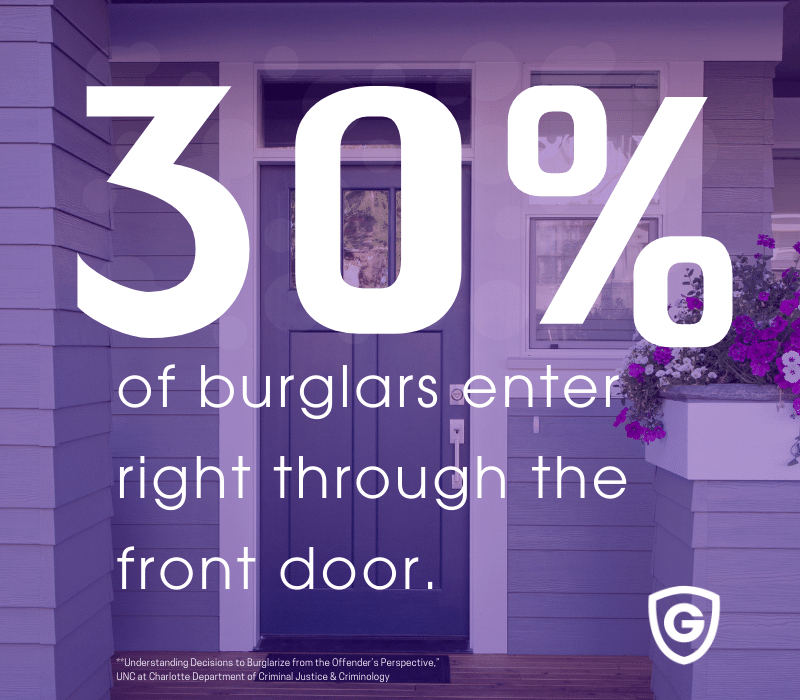 burglars enter through the front door